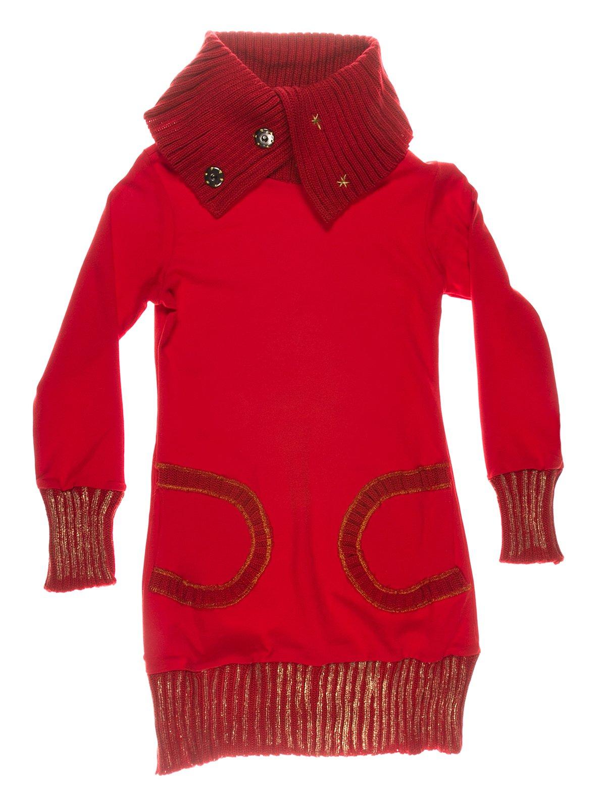 Сукня червона тепла   649185