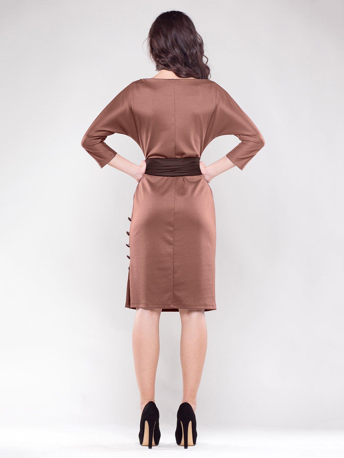 Платье коричневое | 1374788 | фото 2