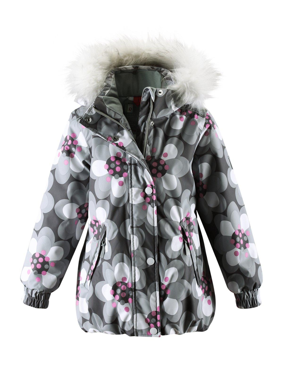 Куртка сіра в принт з капюшоном   1378050