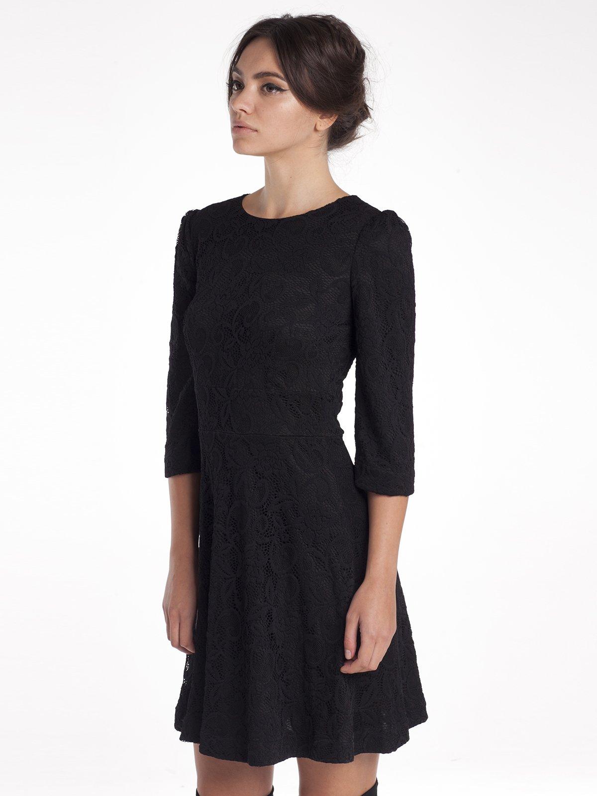 Сукня чорна ажурна   1386179