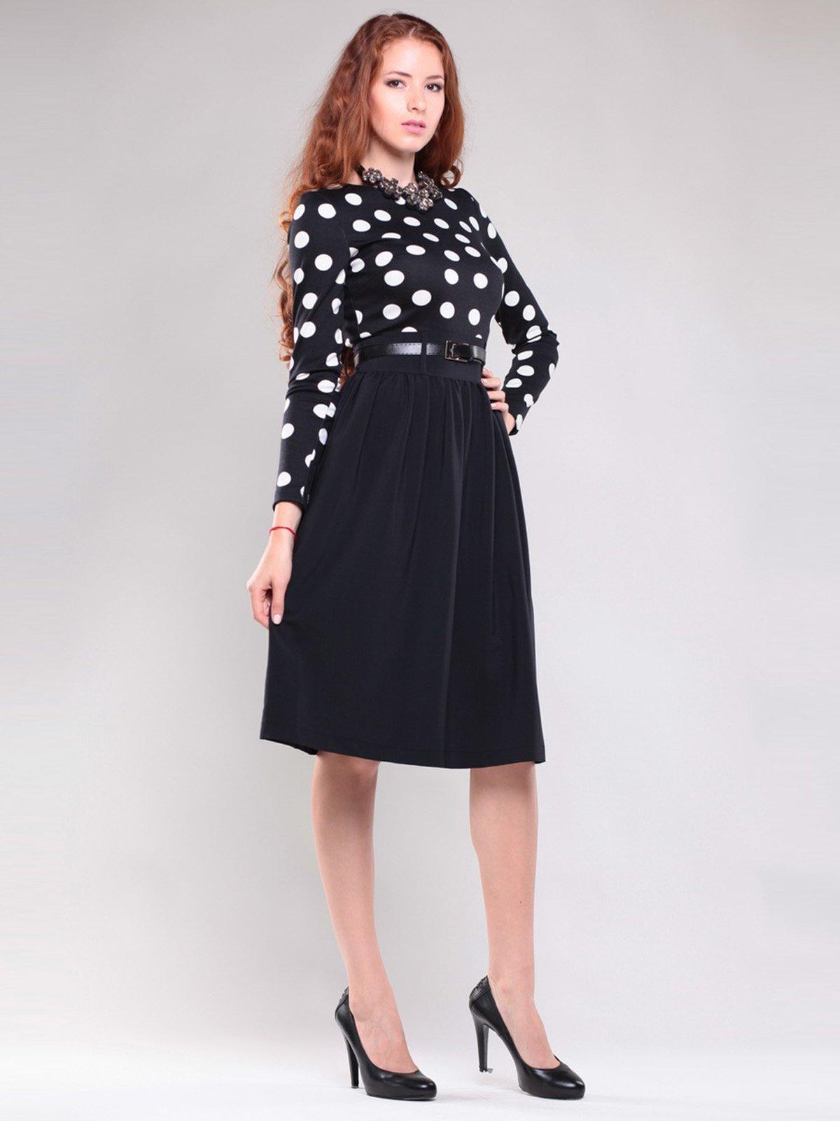 Платье черное в горох | 1397219