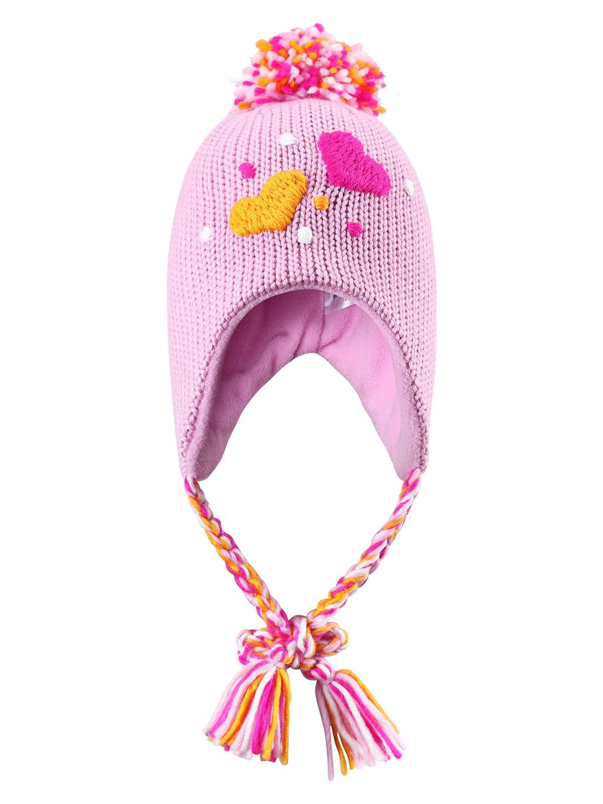 Шапка рожева з помпоном   1403354