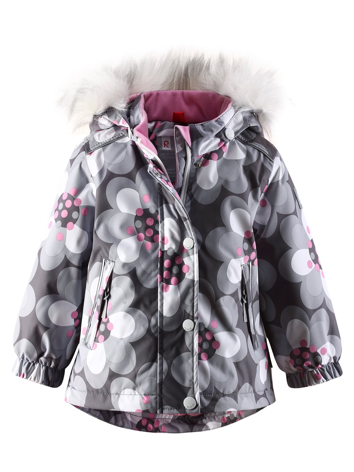 Куртка сіра в квітковий принт | 1422361