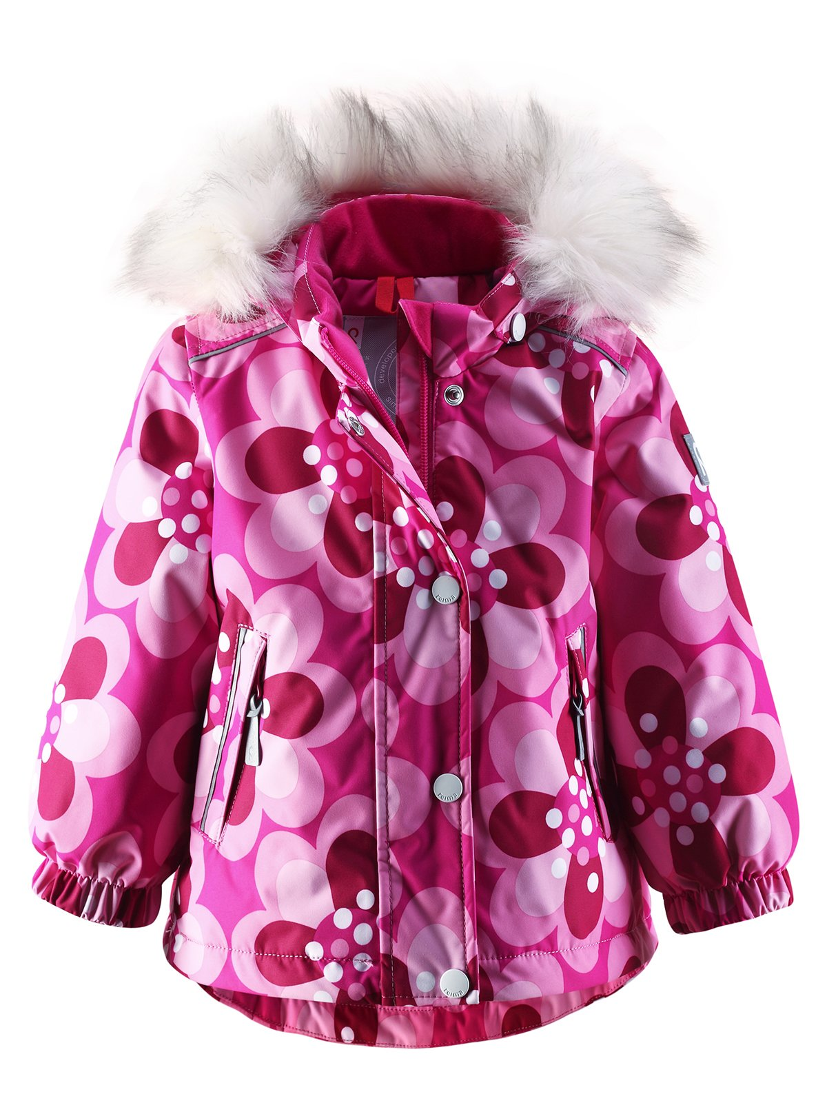 Куртка рожева в квітковий принт | 1422362