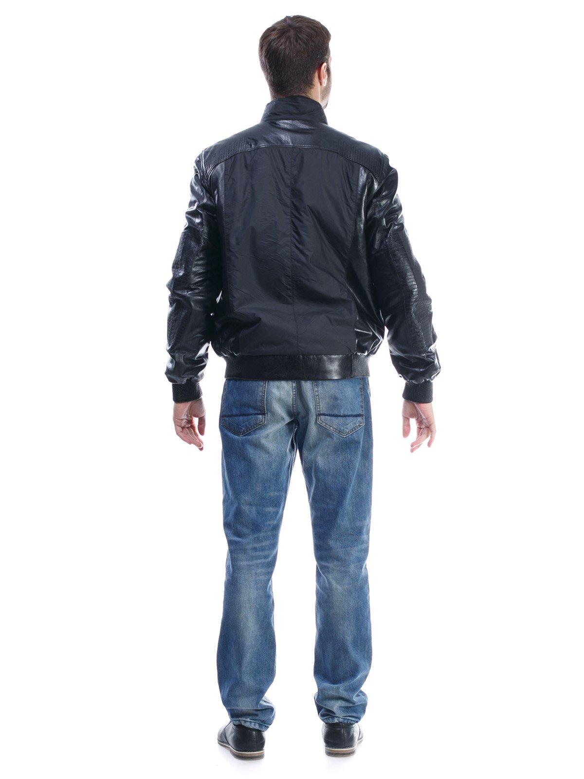 Куртка чорна комбінована | 1425603 | фото 2