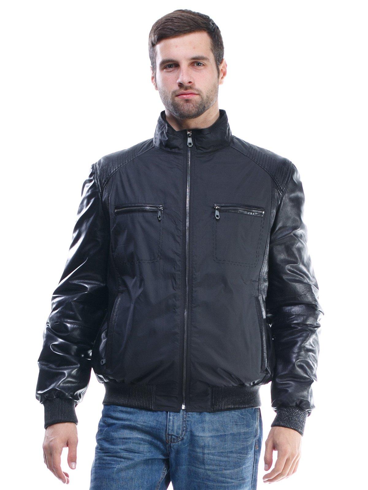 Куртка чорна комбінована | 1425603 | фото 3