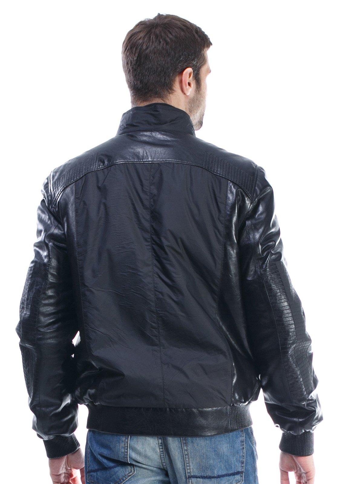 Куртка чорна комбінована | 1425603 | фото 4
