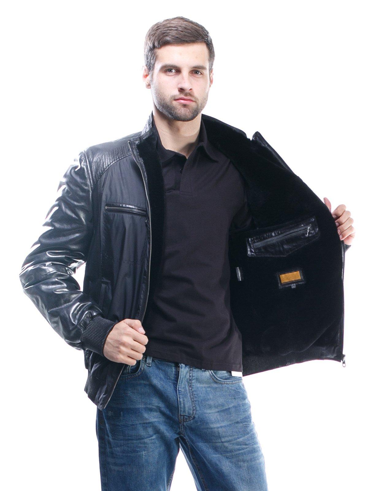 Куртка чорна комбінована | 1425603 | фото 5