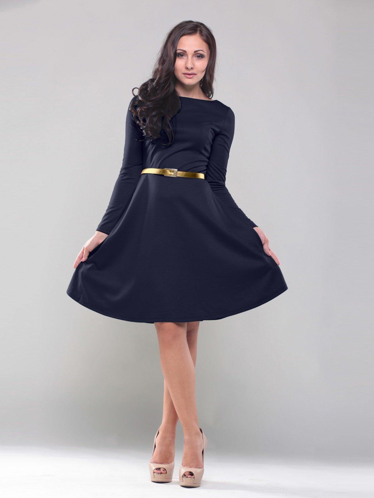 Платье темно-синее | 1428340