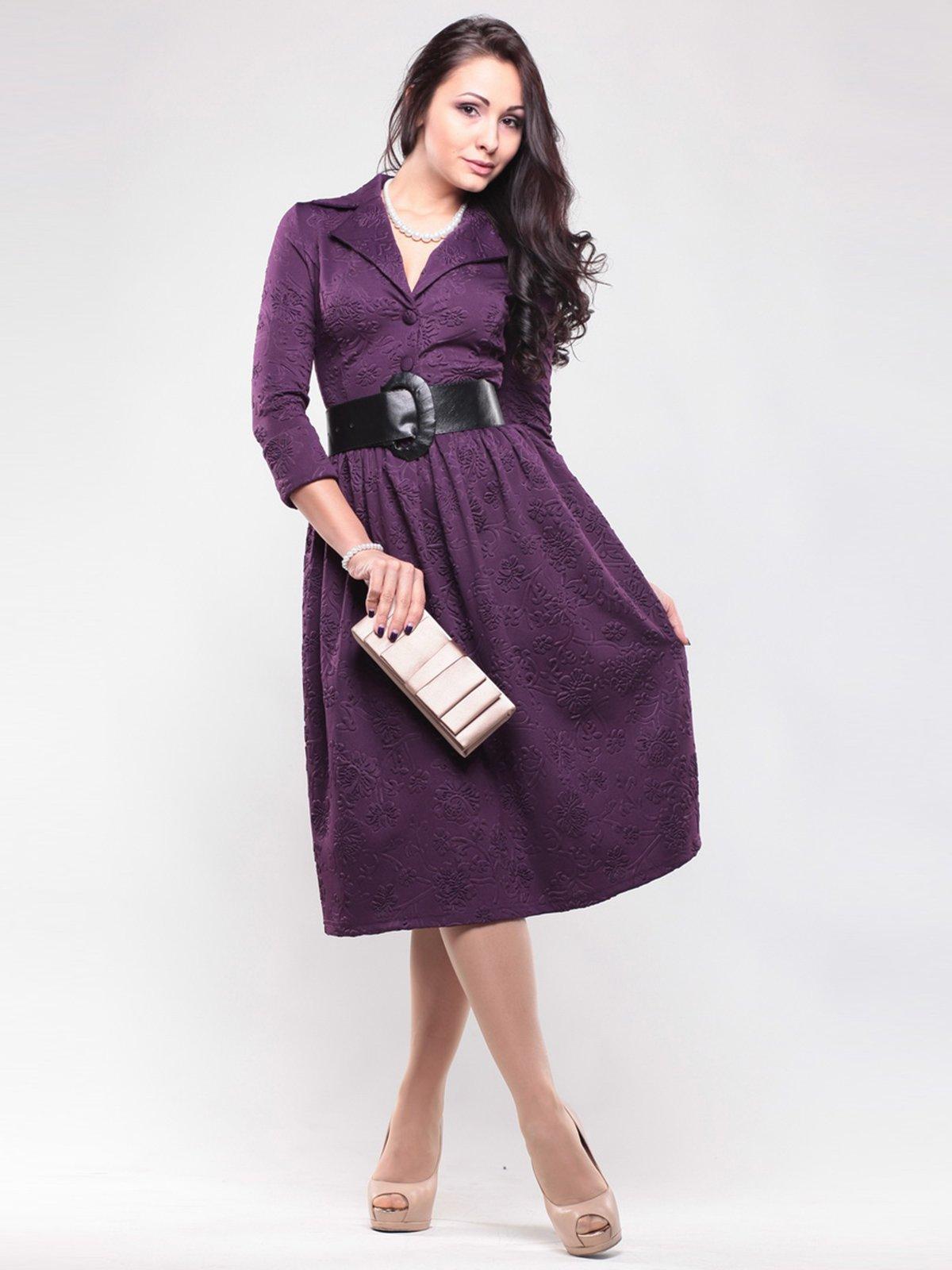 Сукня сливового кольору в малюнок   1439020