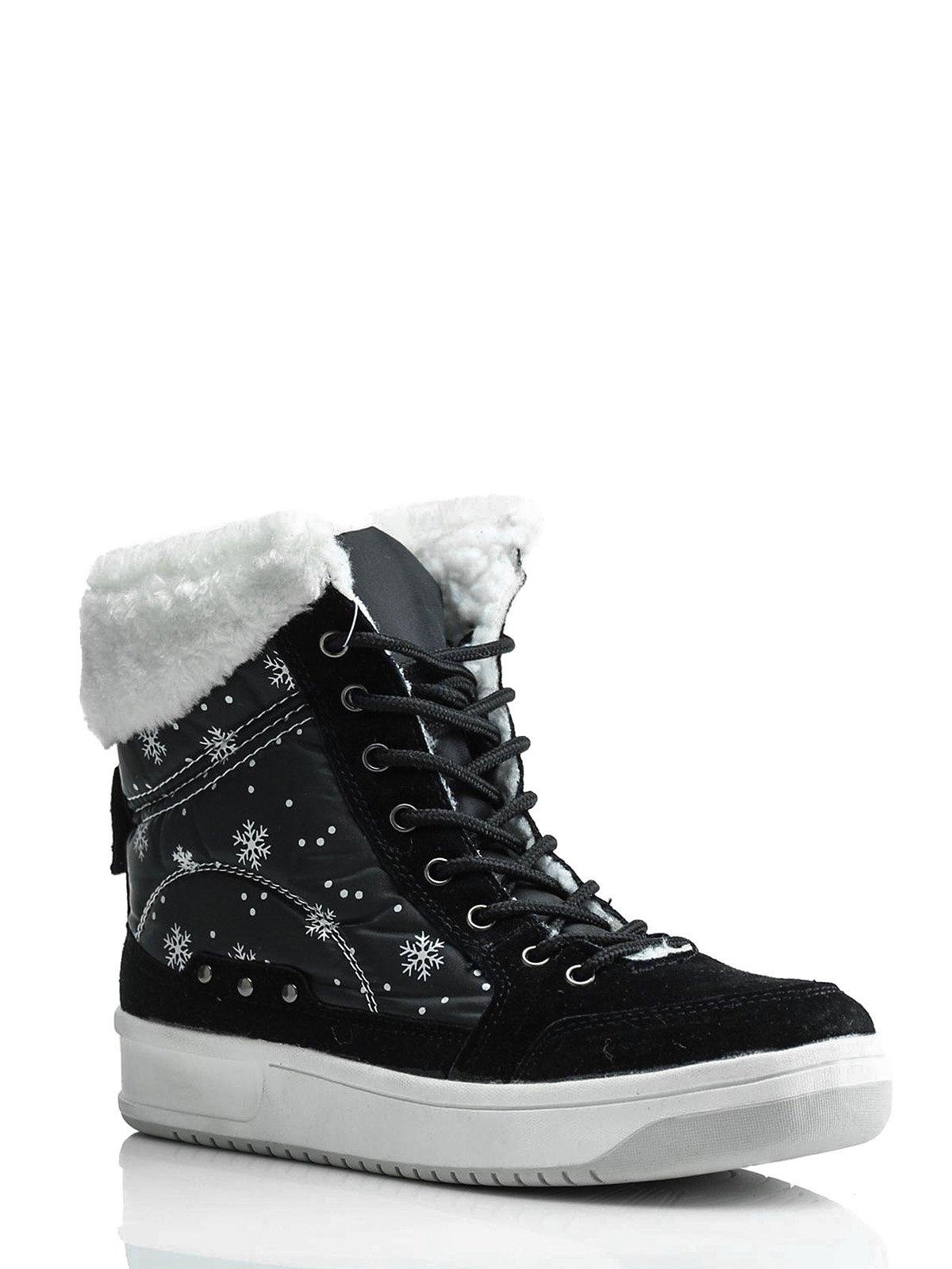 Ботинки черные комбинированные   1445804