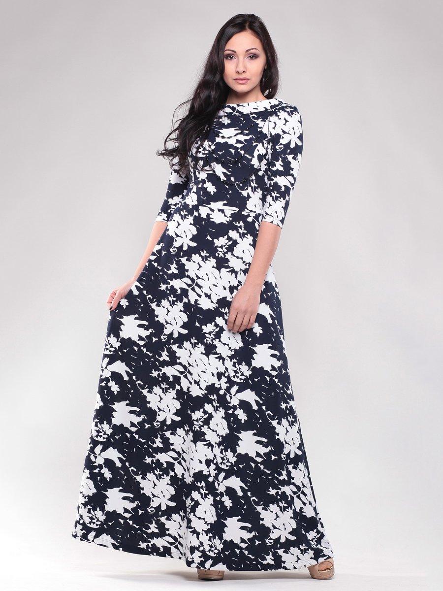Платье черно-белое в принт | 1469109