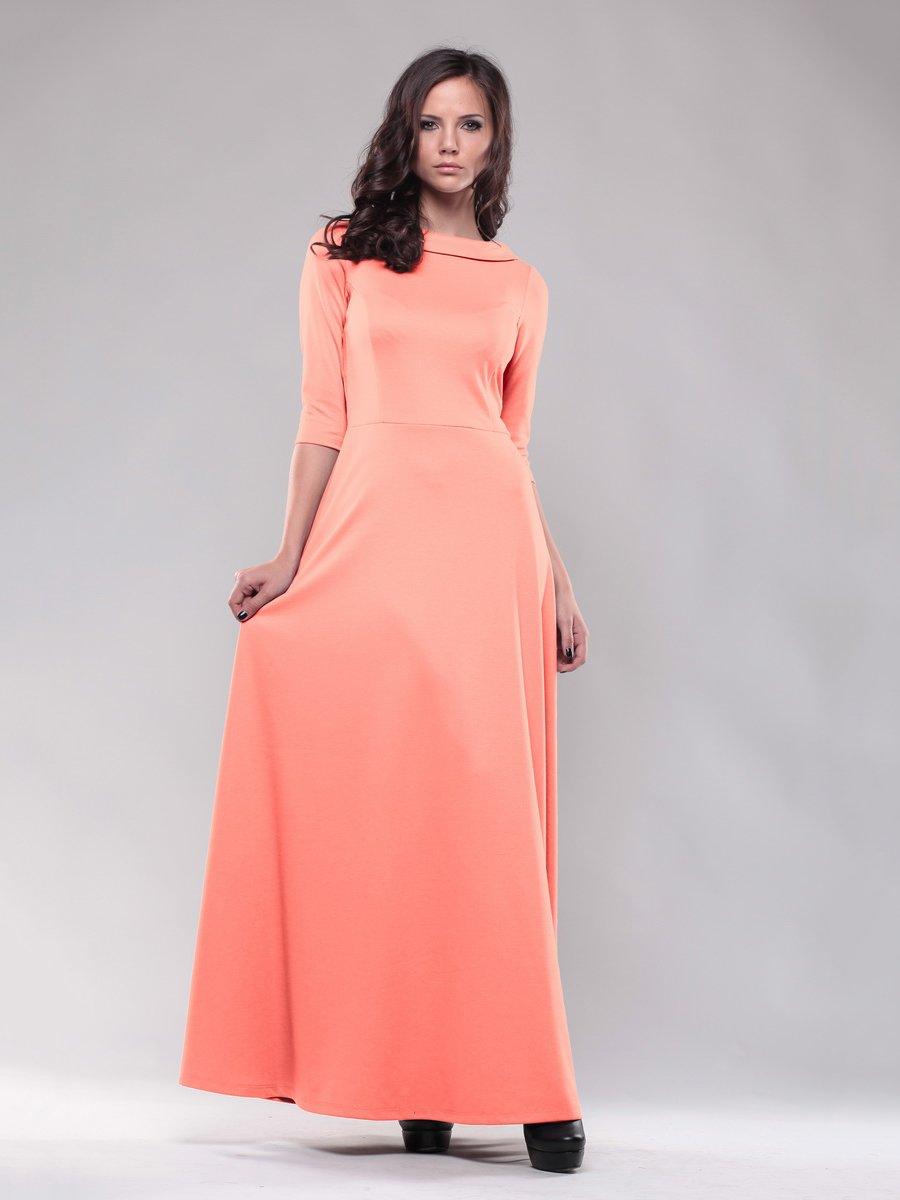 Платье светло-коралловое | 1469117