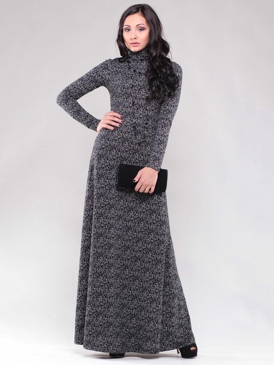 Сукня чорна в принт   1475019