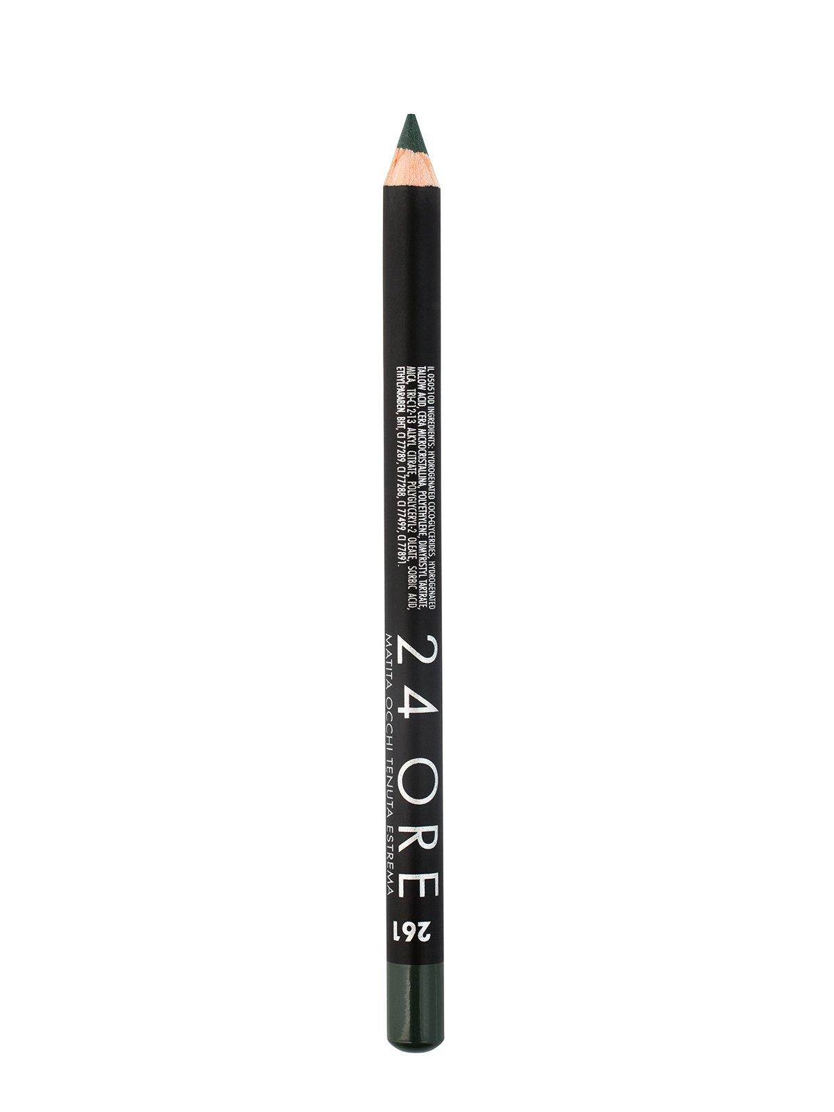 Олівець для повік стійкий темно-зелений 24 Ore - № 261 (1,5 г)   352182