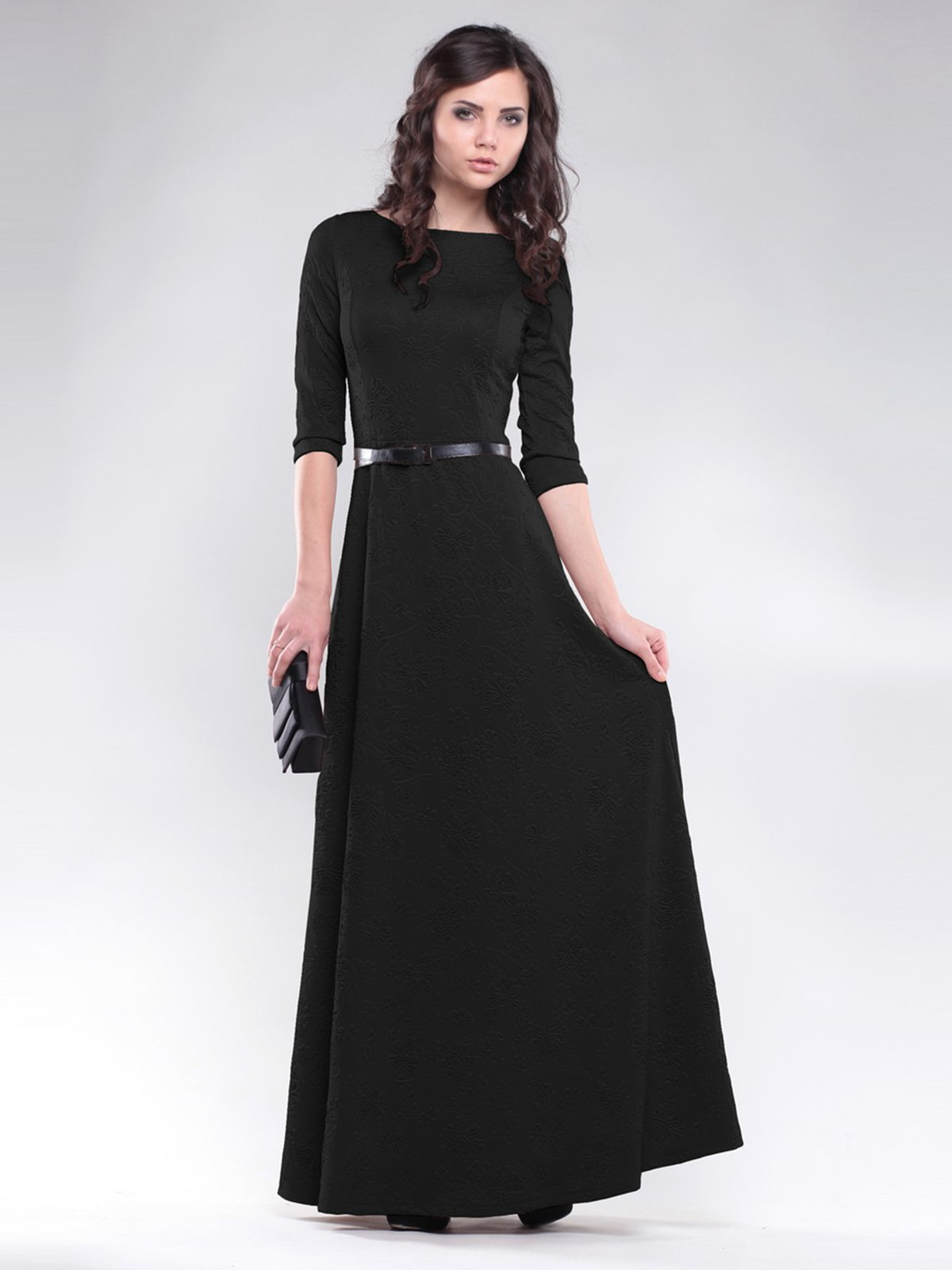 Платье черное с узором | 1485926