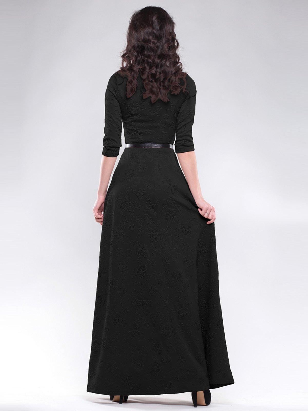 Платье черное с узором | 1485926 | фото 2
