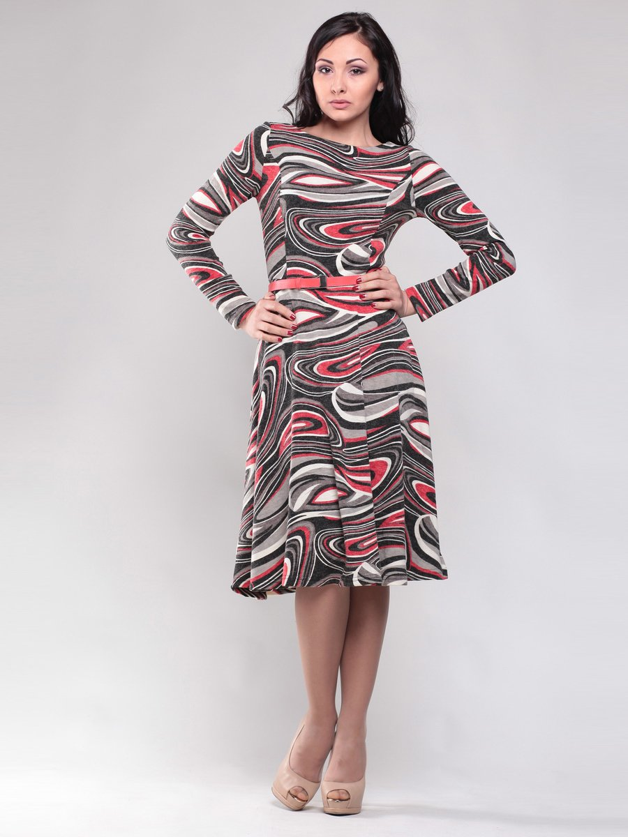 Платье абстрактной расцветки | 1512785 | фото 4