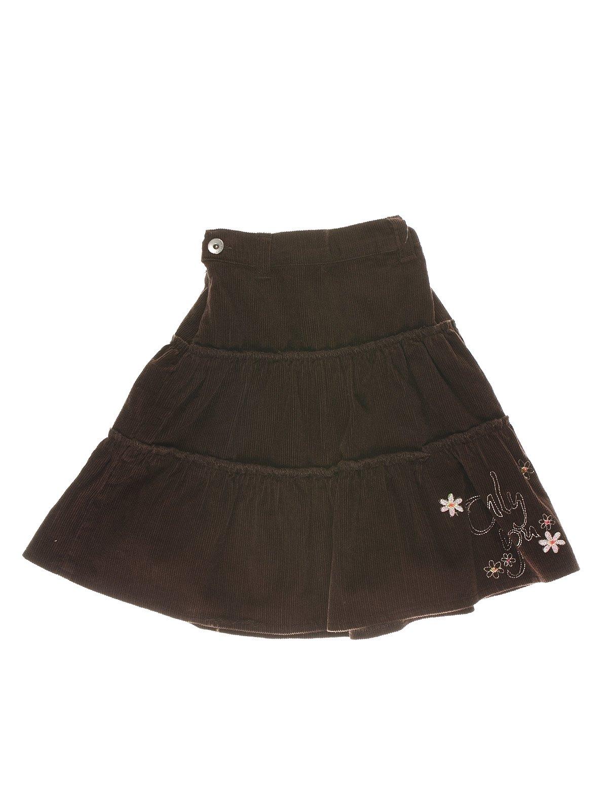 Юбка темно-коричневая с декором   1364780