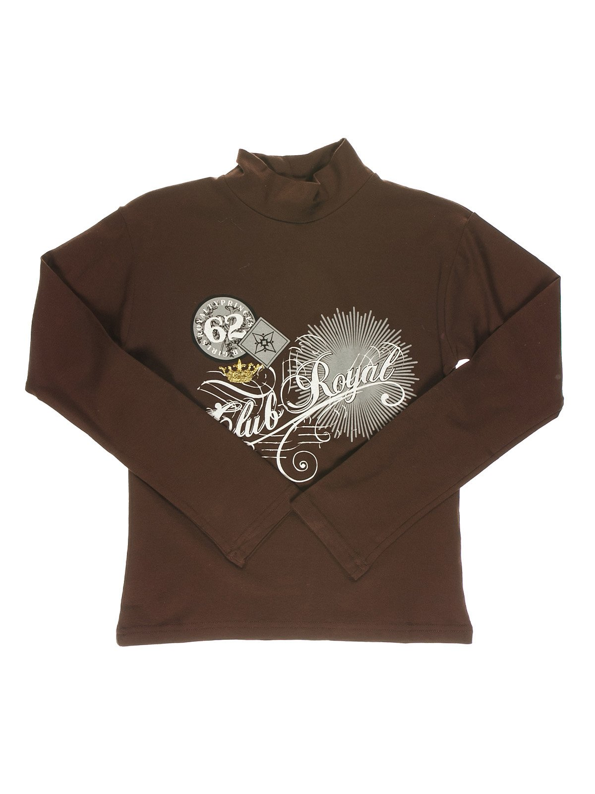 Гольф коричневый с принтом | 1466347