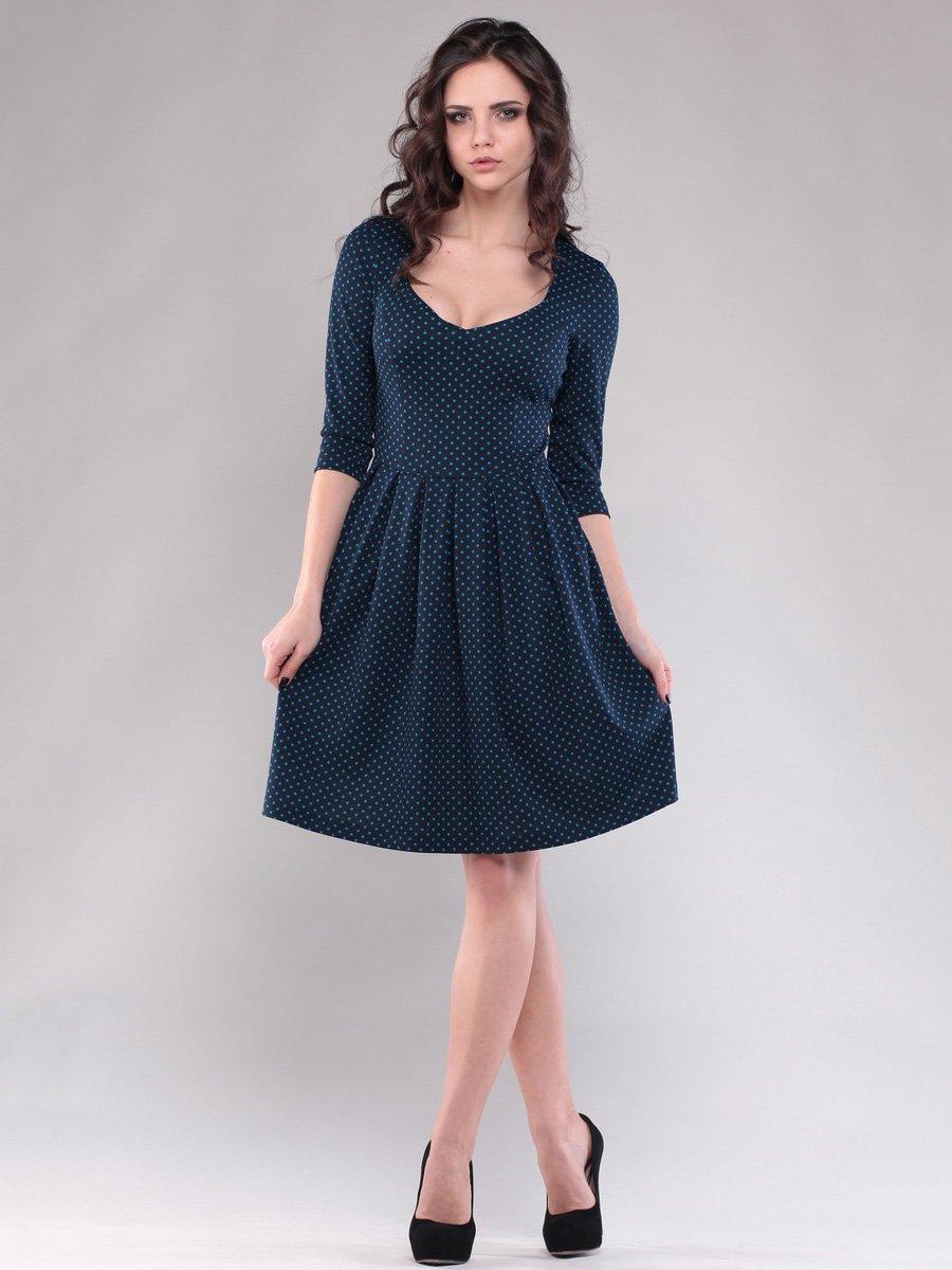 Сукня темно-синя в горох   1509155
