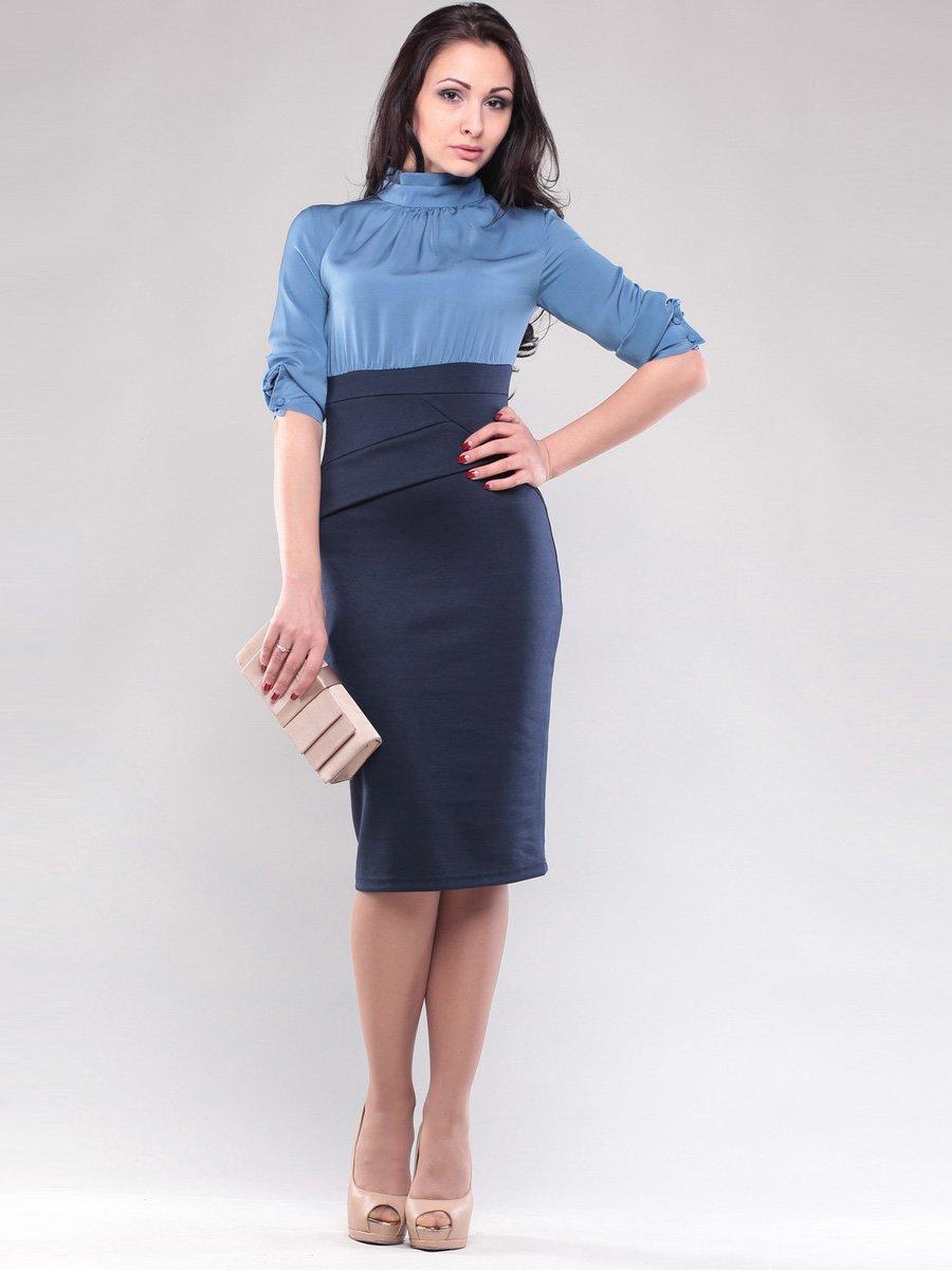 Платье голубо-синее | 1545266