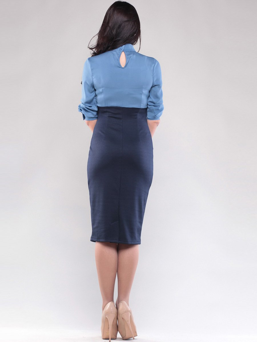 Платье голубо-синее | 1545266 | фото 2