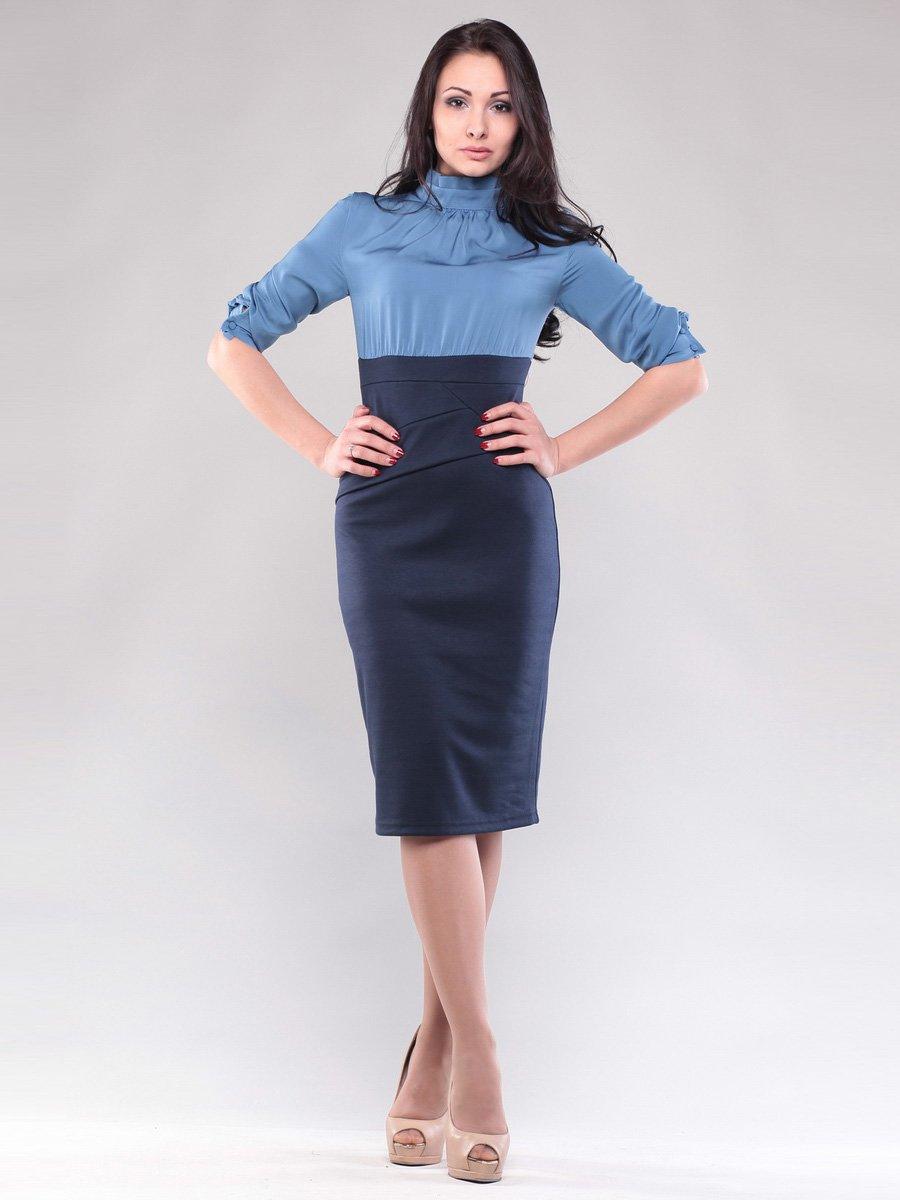 Платье голубо-синее | 1545266 | фото 4