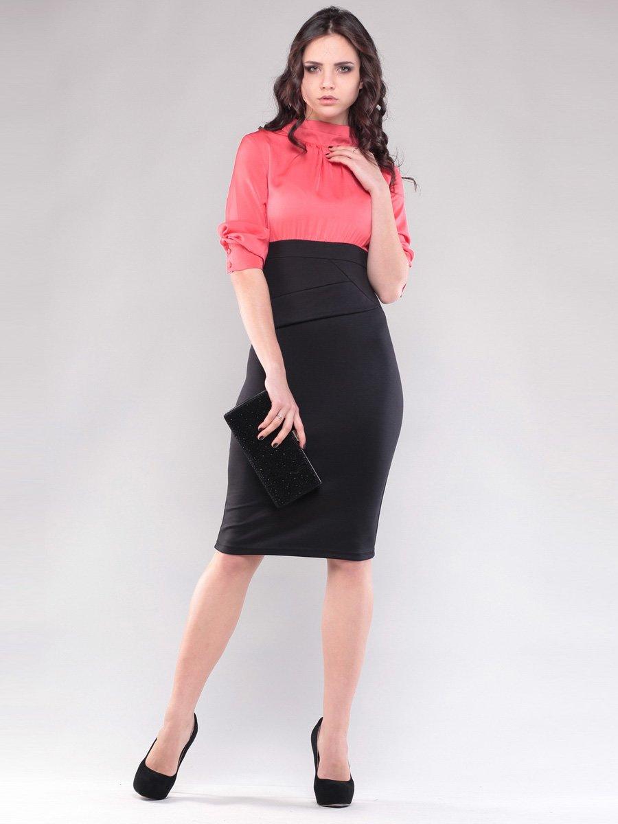 Платье кораллово-черное   1545267