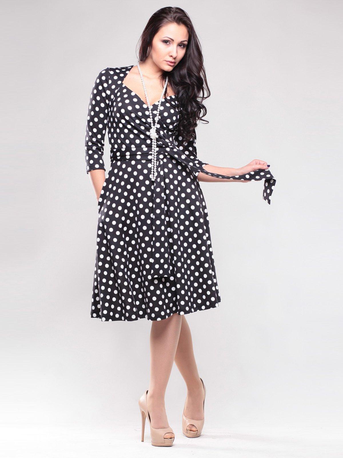 Платье черное в горох | 1545302