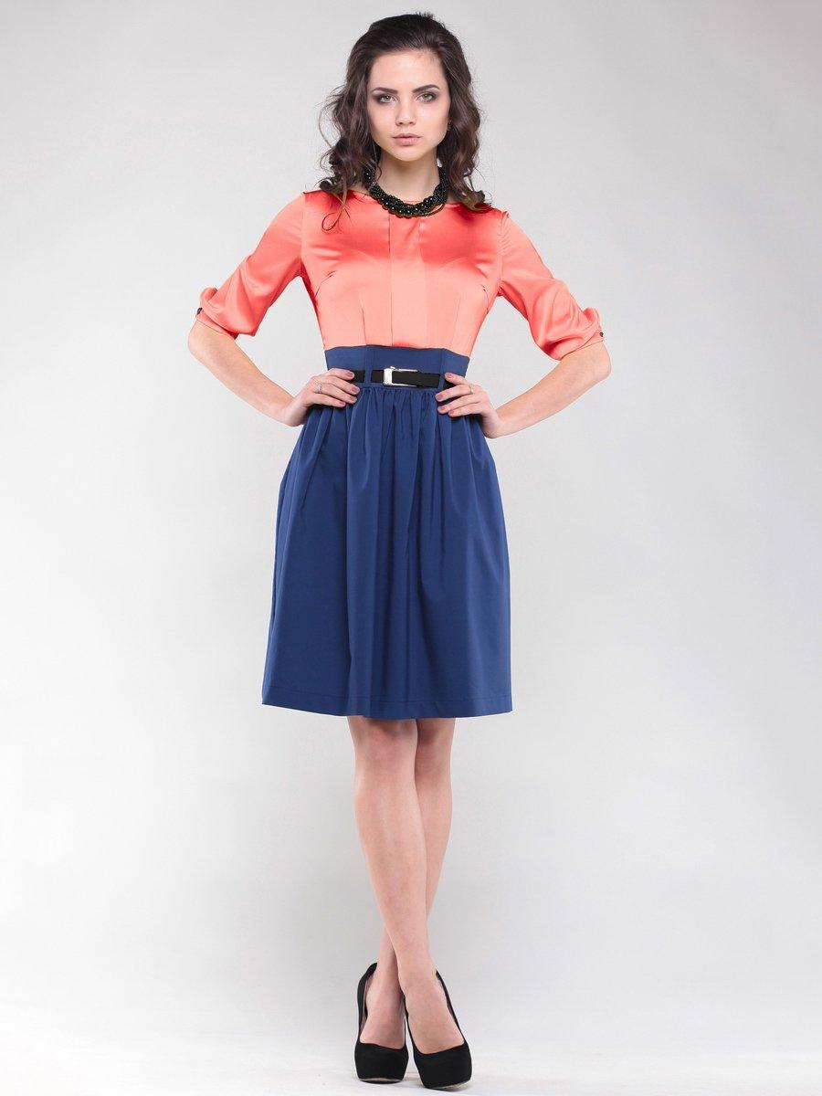 Сукня коралово-синя | 1549636