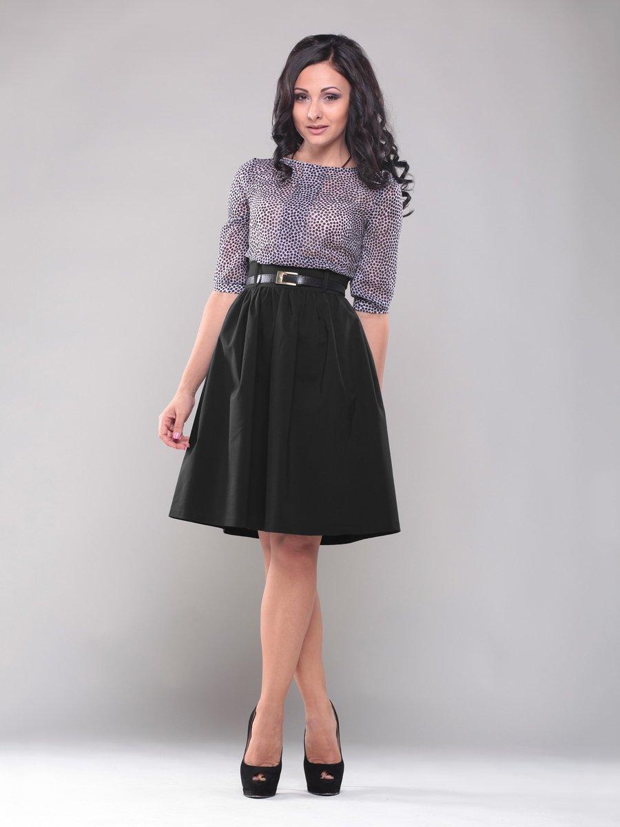 Платье черно-белое в горох | 1549646