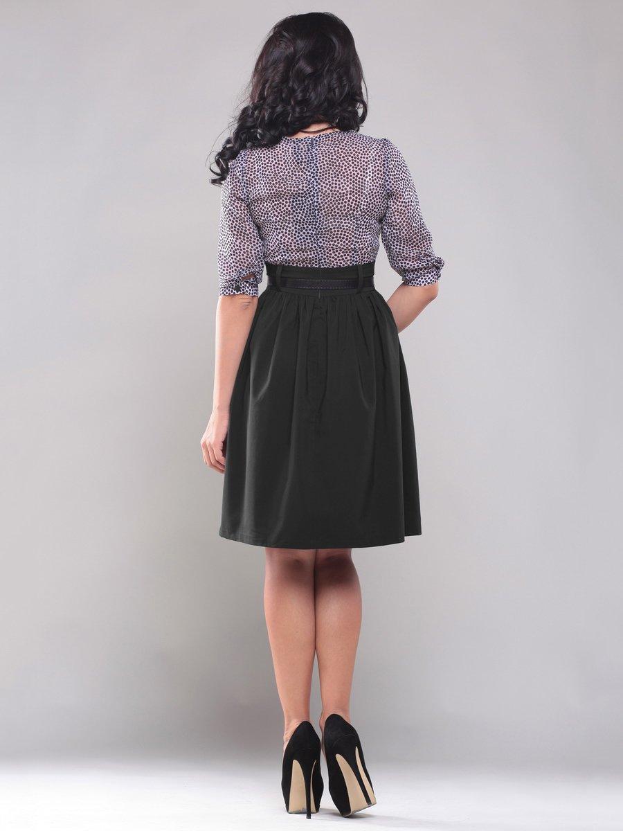 Платье черно-белое в горох | 1549646 | фото 2