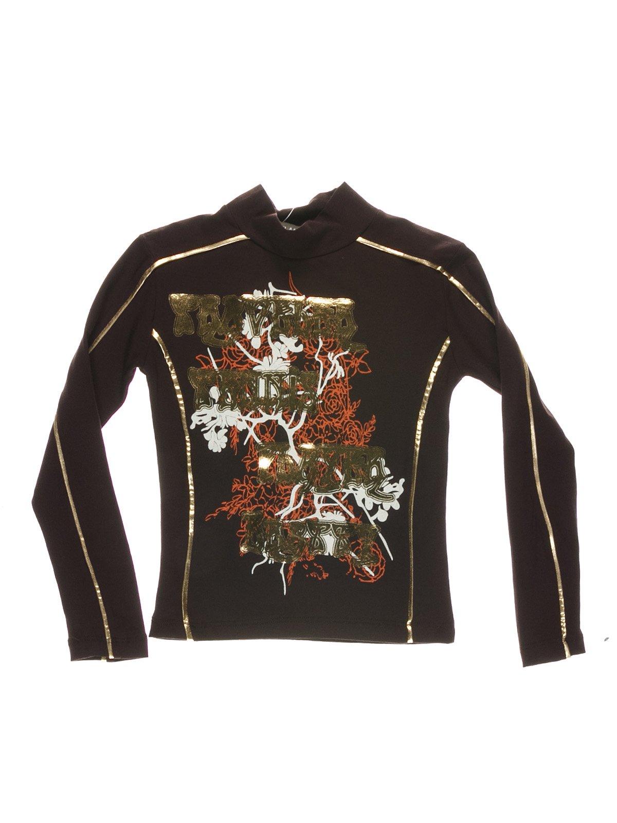 Гольф коричневий з принтом   1547596