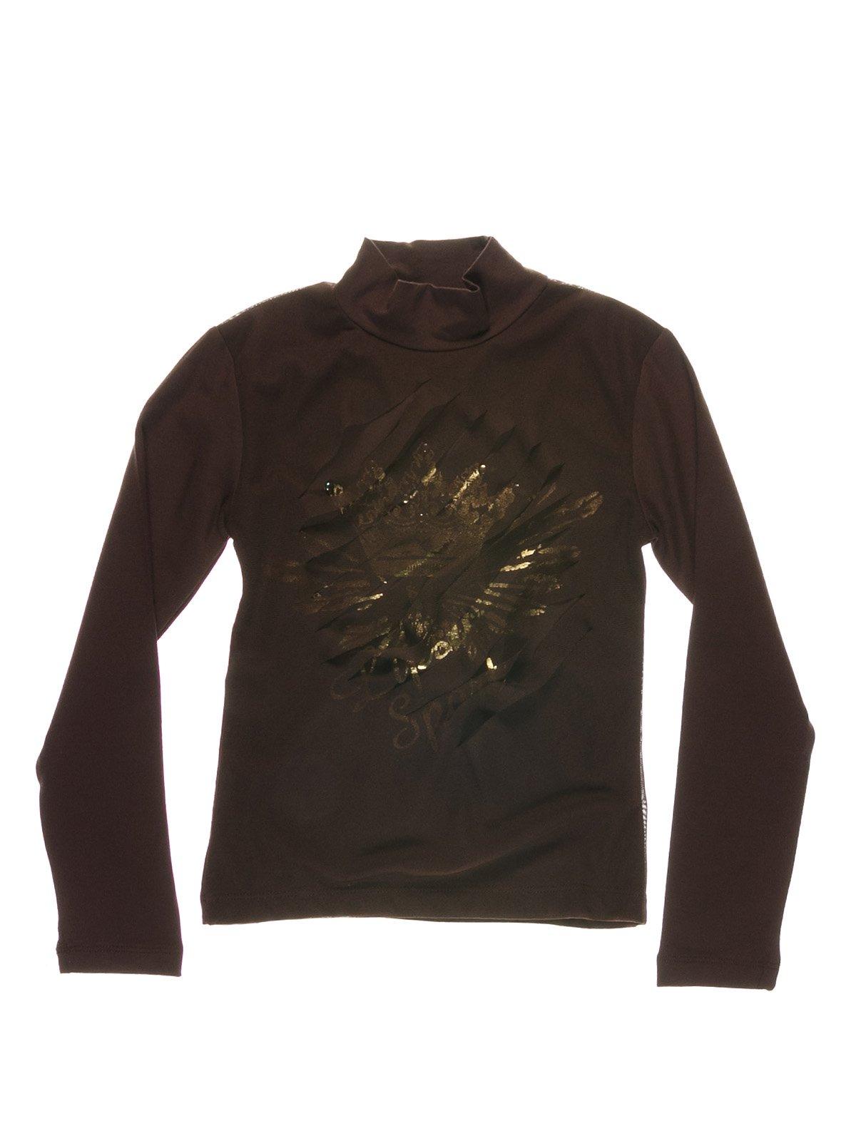 Гольф коричневый с декором | 1547589