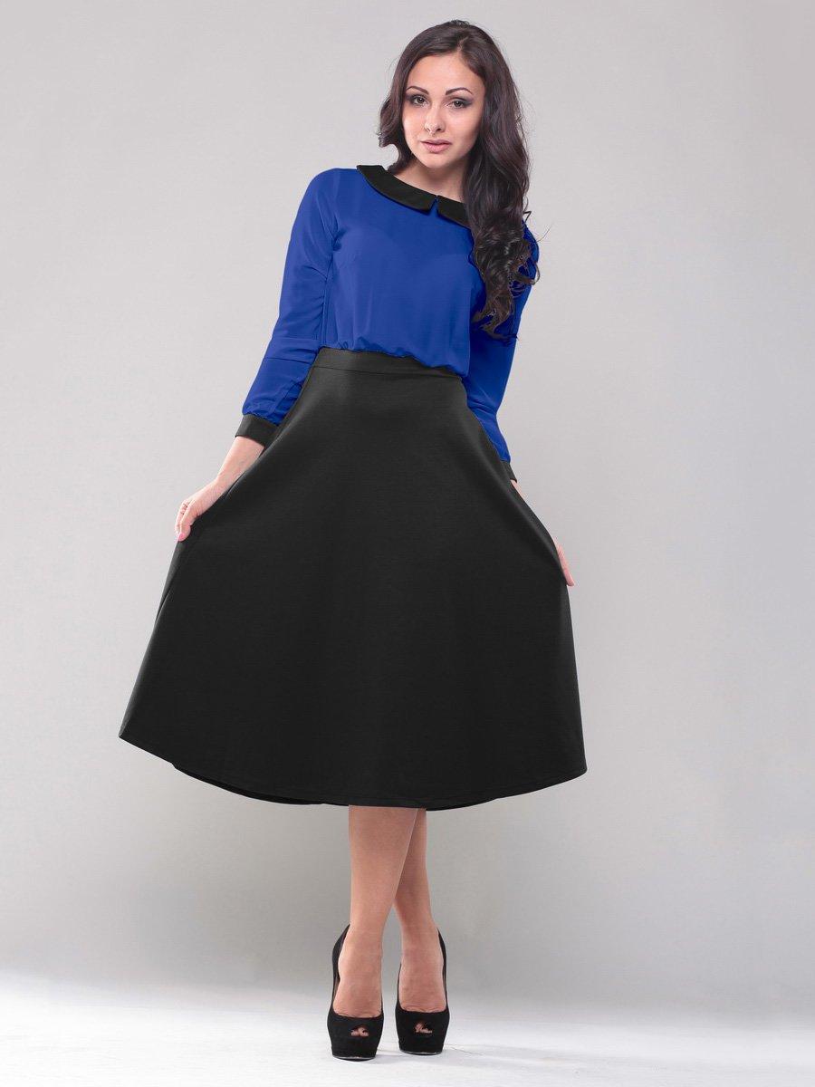 Платье сине-черное | 1567486