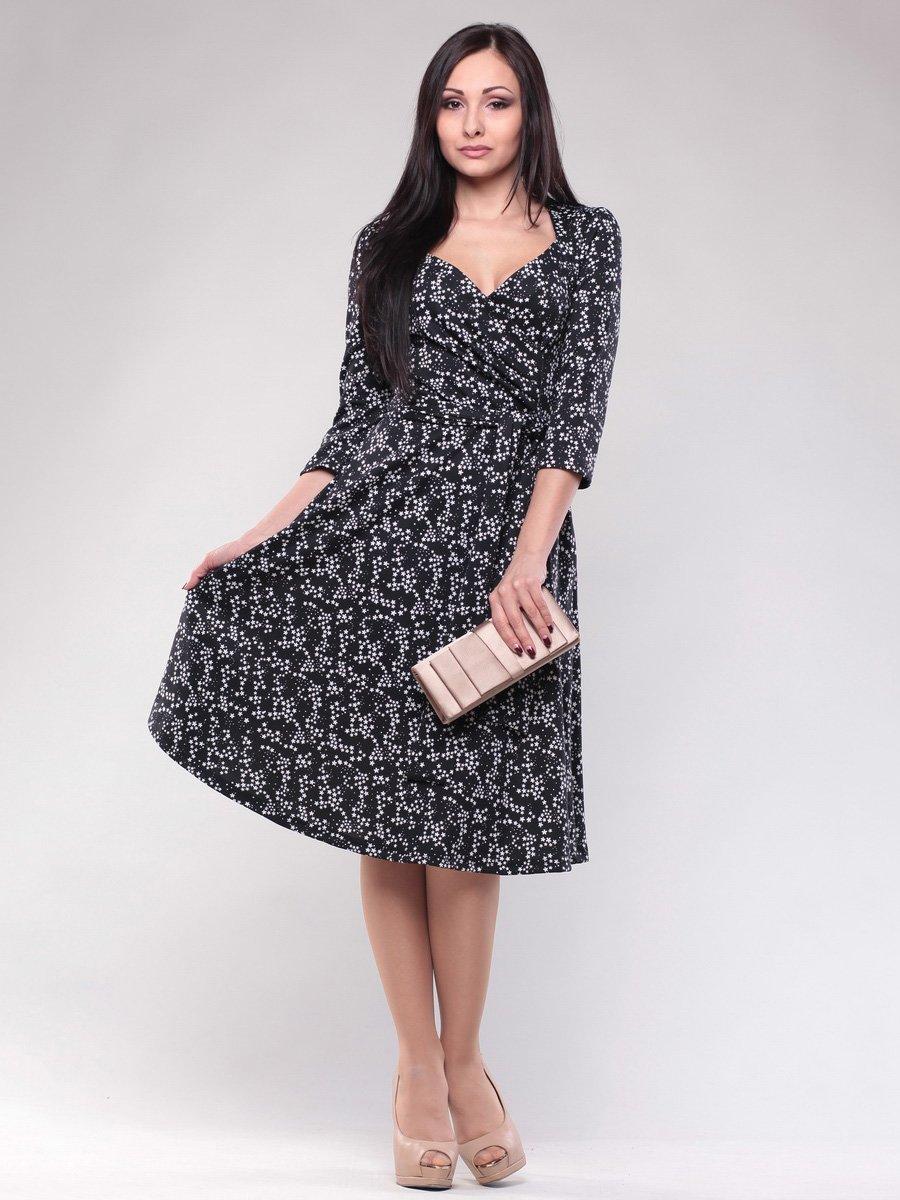 Сукня чорна в принт | 1574532