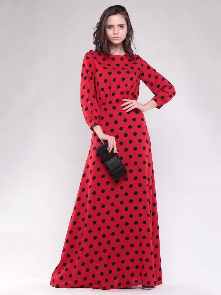 Сукня червона в чорний горох | 1599792
