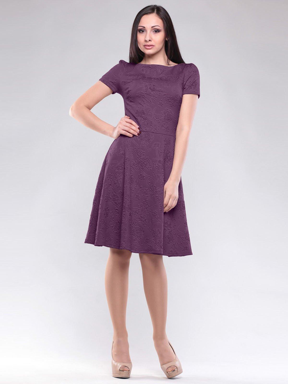 Сукня фіолетова в квітковий малюнок   1604450