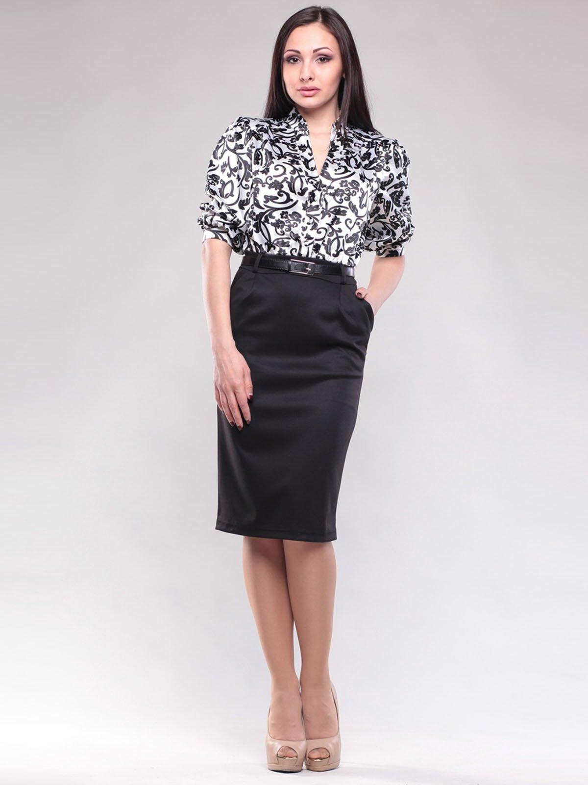 Сукня біло-чорна в принт | 1604470