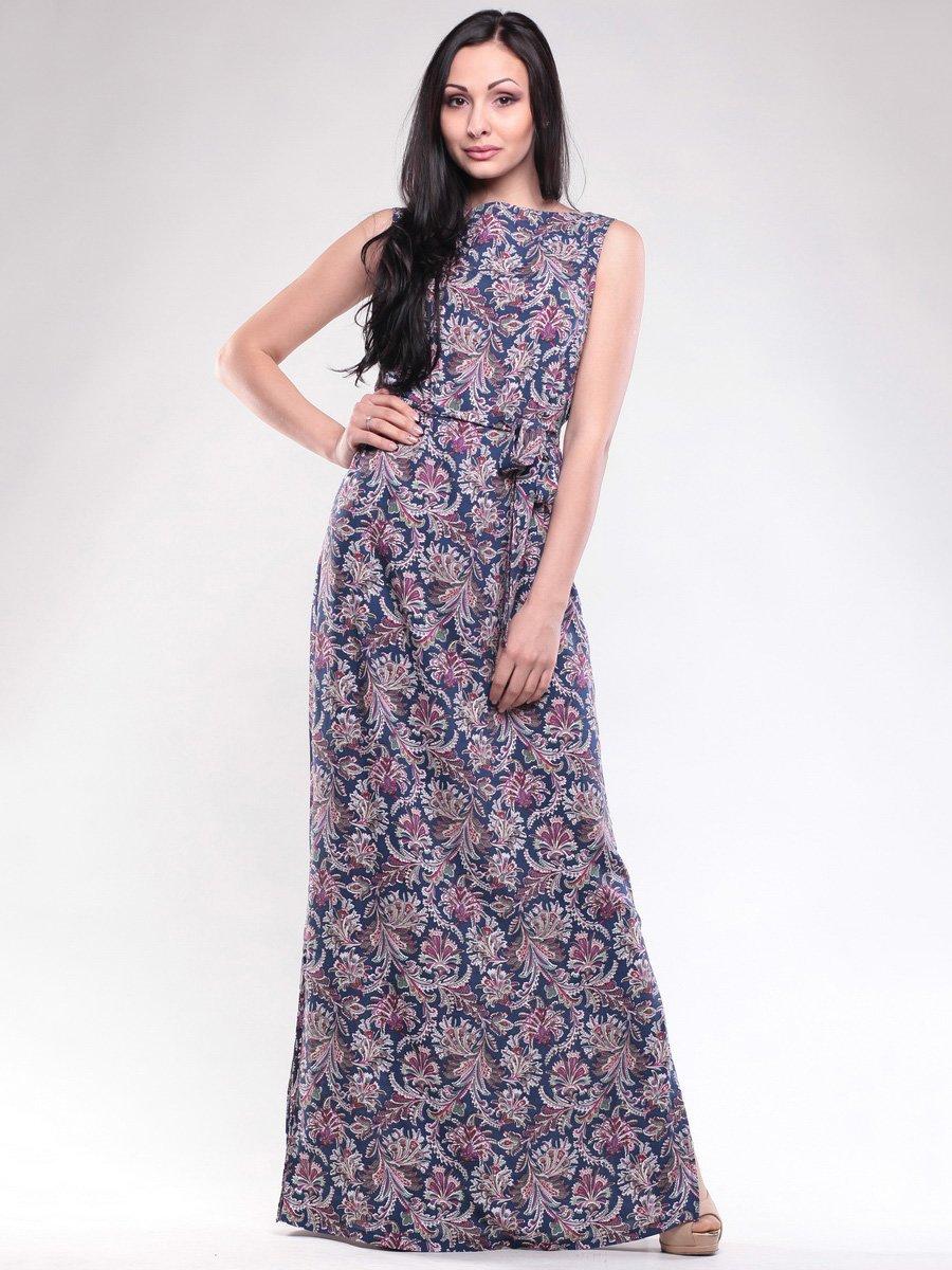 Сукня синя в принт | 1619645