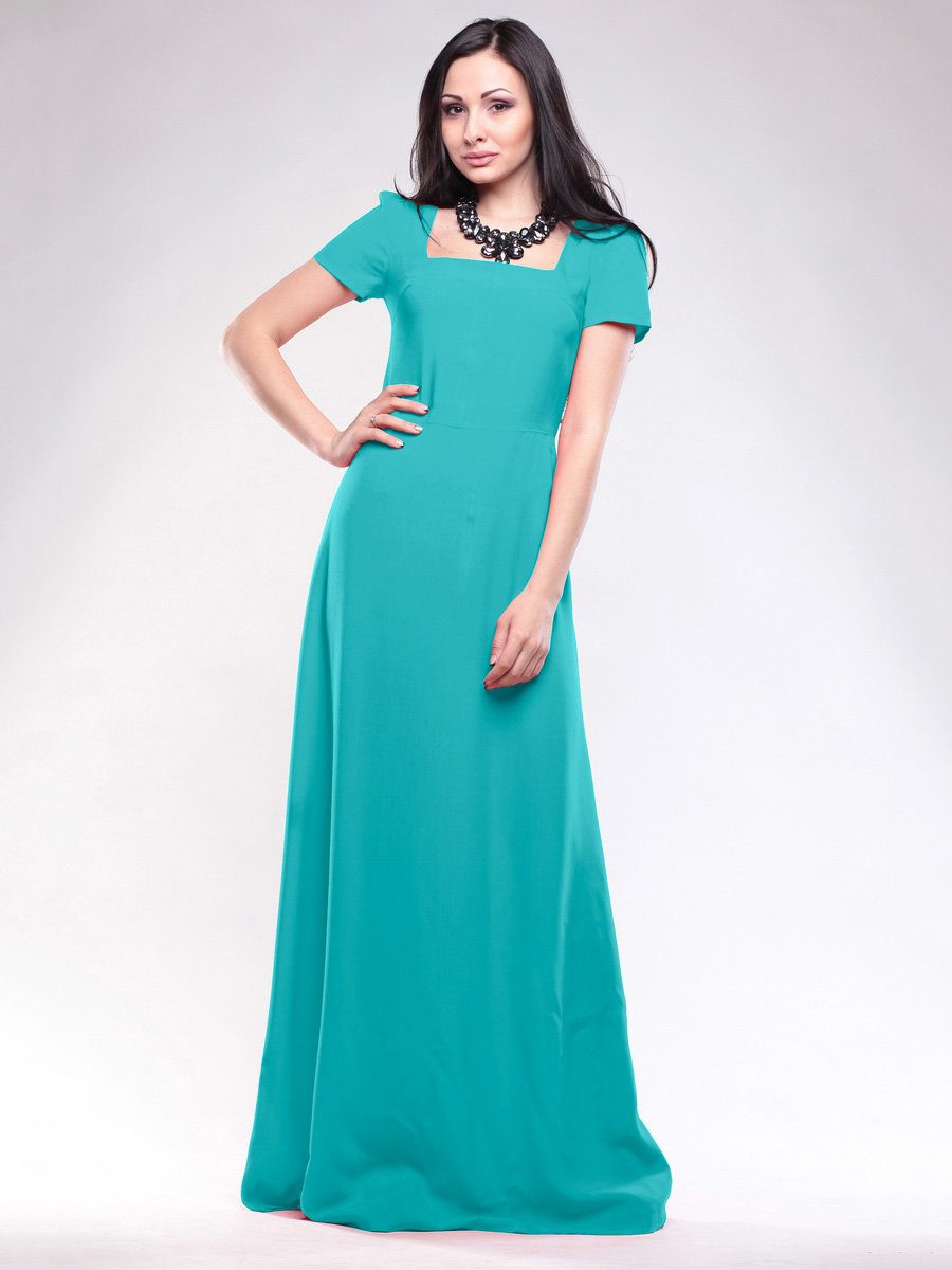 Платье бирюзовое | 1619648