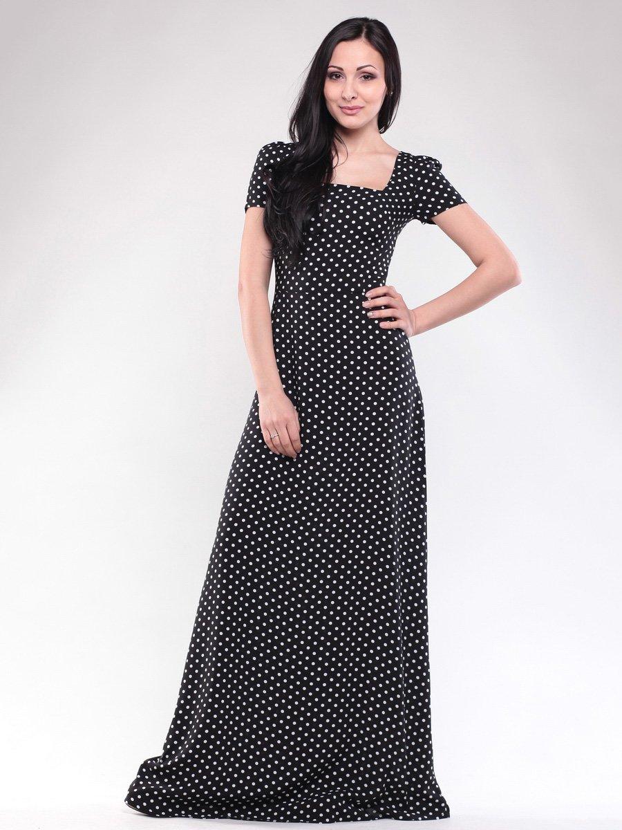 Платье черное в горох   1619654
