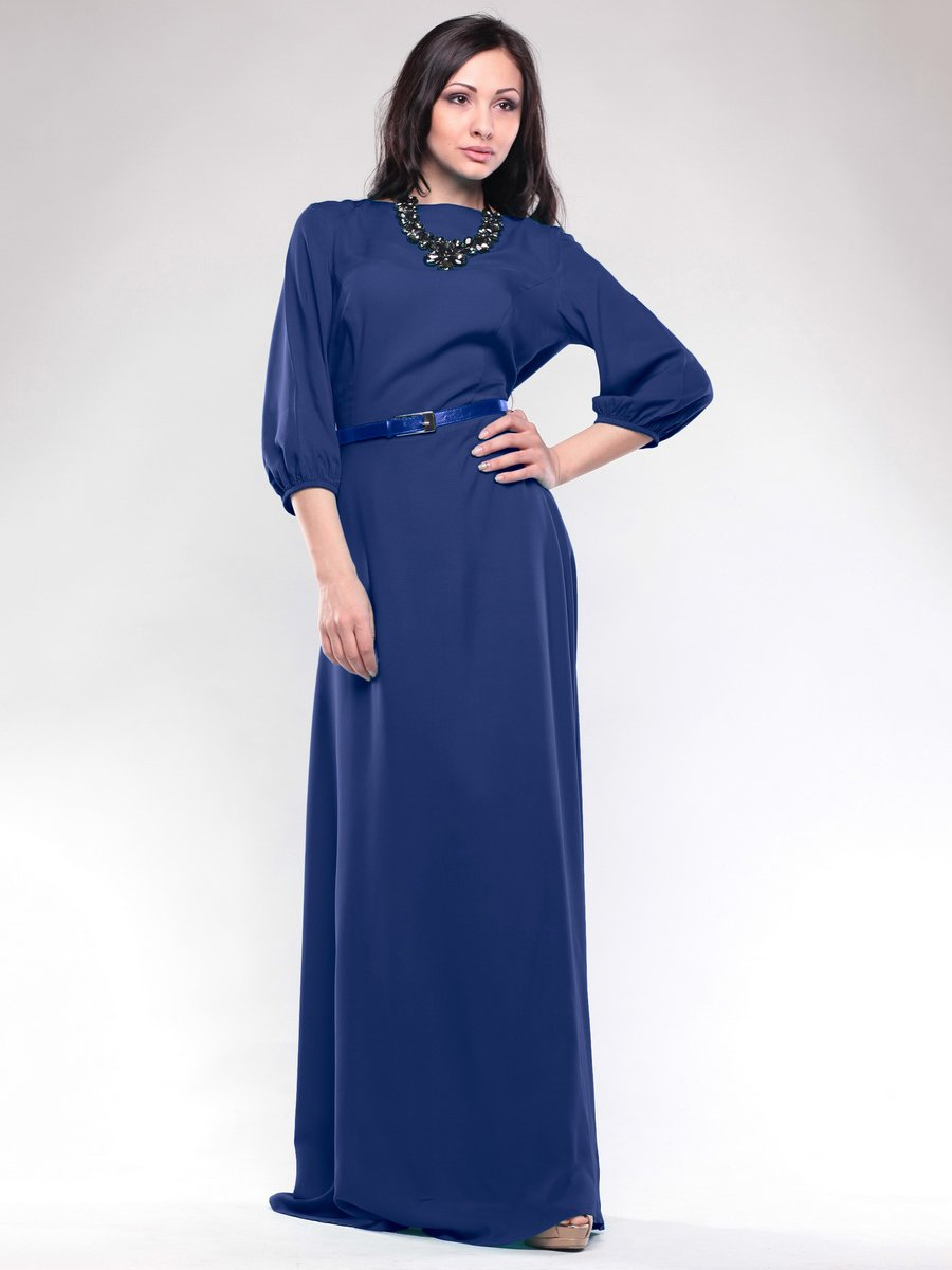 Сукня кольору електрик | 1633374