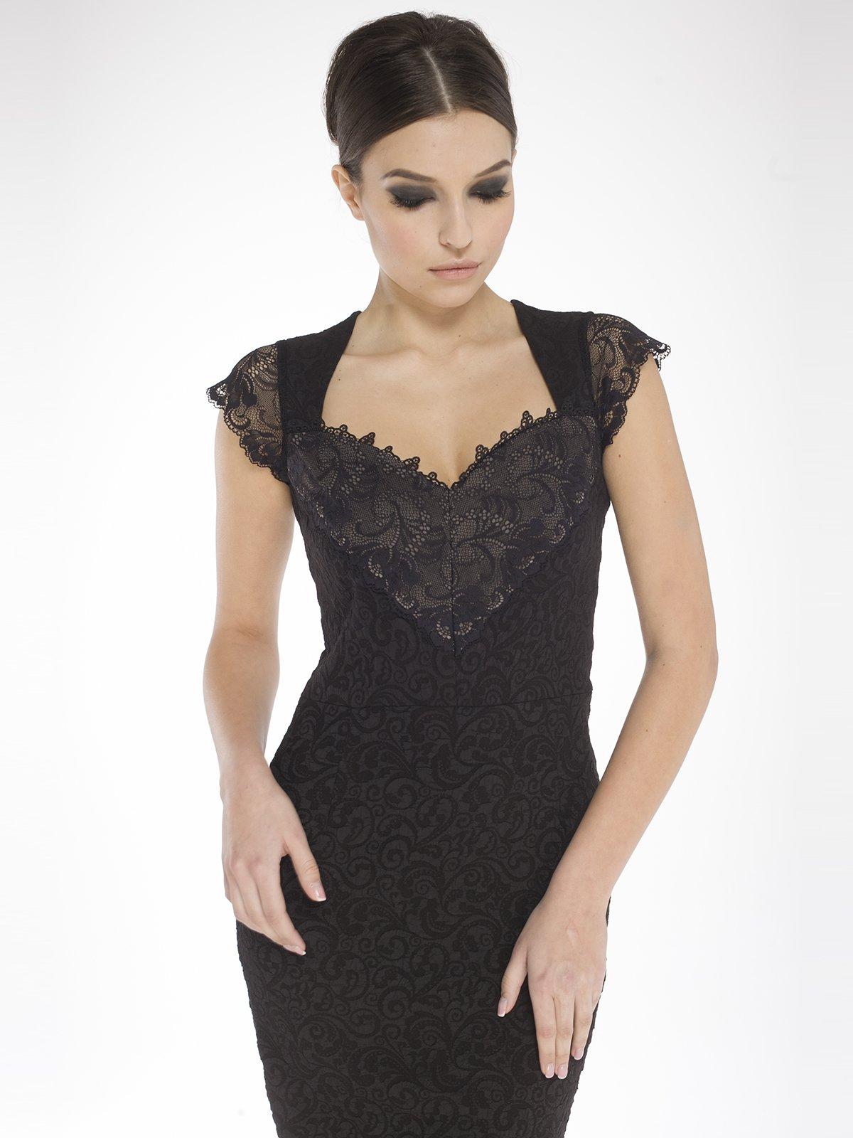 Платье черное в узор   1633405