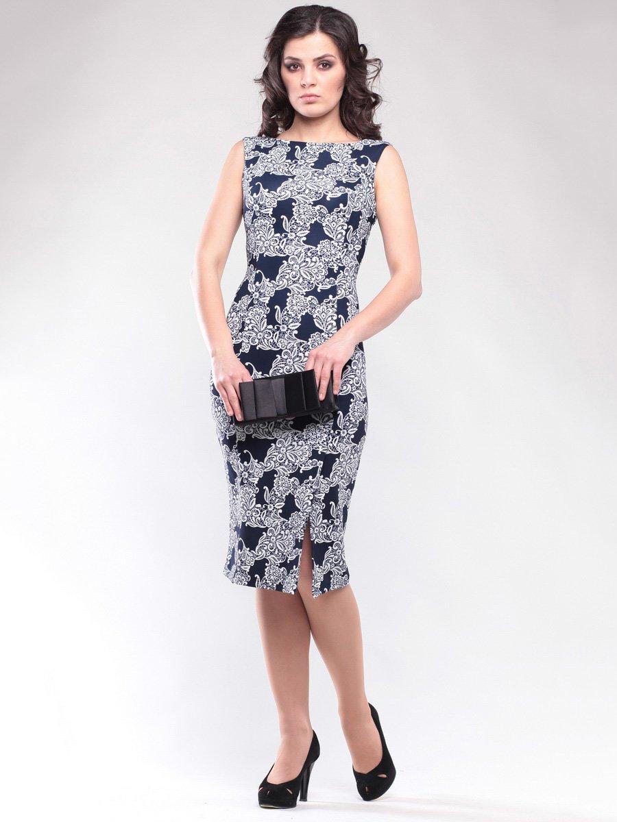 Сукня чорно-біла в принт | 1647123