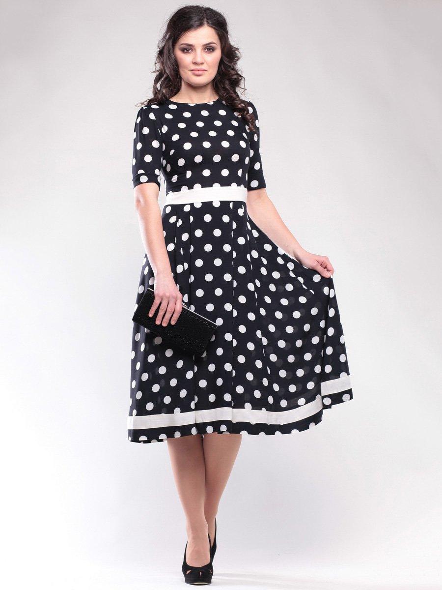 Платье черное в горох | 1647150