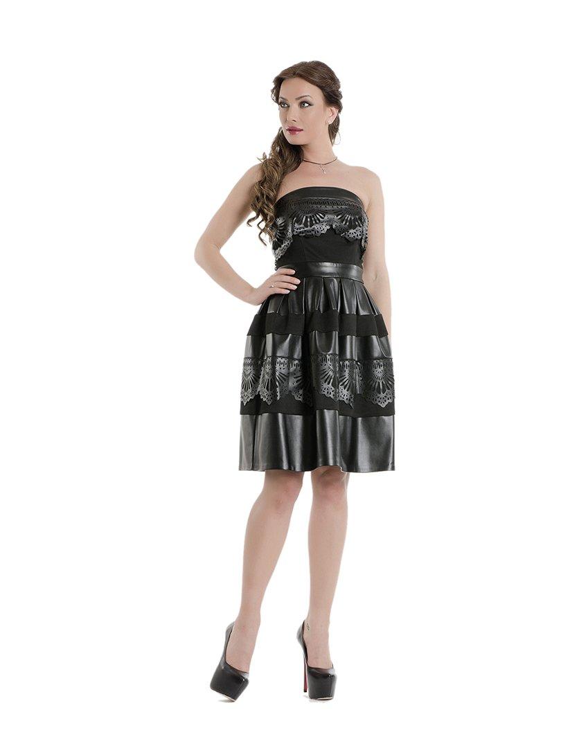 Сукня-бюстьє чорна | 1655999