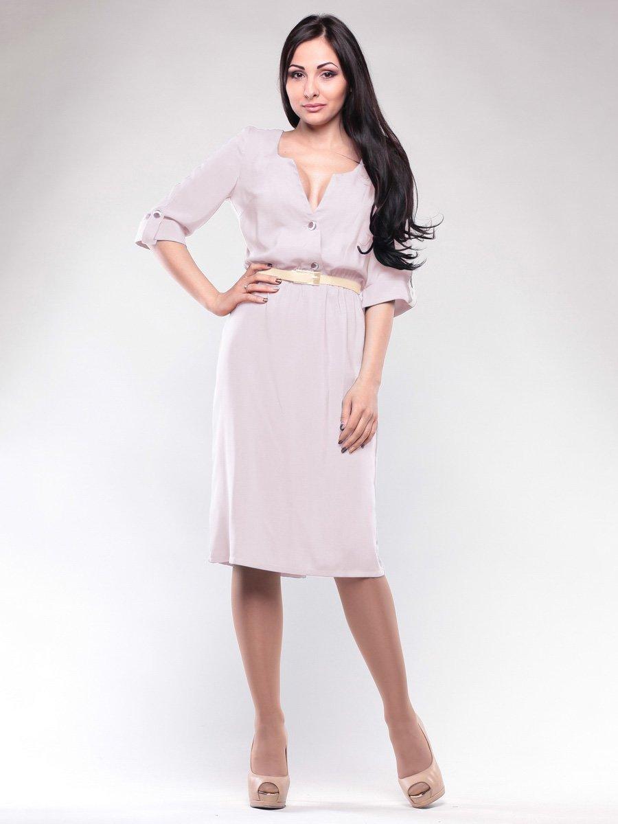 Платье розово-бежевое | 1659659