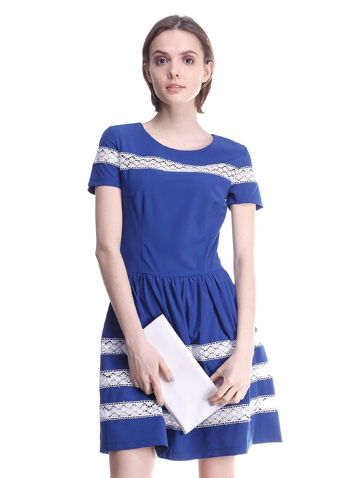 59811f18e62 Платье синее с кружевной отделкой — Marafett